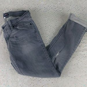 Levi's Jeans - Levis Black Label Jeans Gray Distressed Skinny